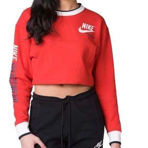NWT Nike Sportswear Reversible Crop Sweatshirt